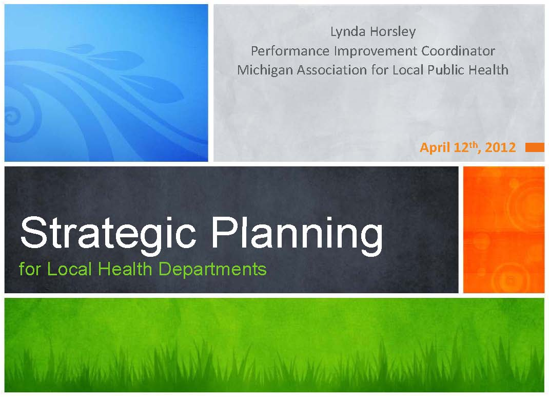 Healthcare Strategic Planning in Today's Dynamic Environment